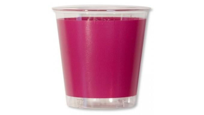 10 Bicchieri BOUGANVILLE in plastica Kristal - addobbo decoro tavola