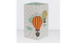 Biglietto augurale con MONGOLFIERE - W-LAMP regalo che si trasforma in lampada