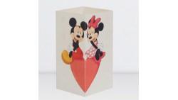 Biglietto augurale MICKEY and MINNIE - W-LAMP regalo che si trasforma in lampada