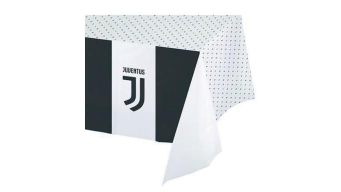 1 tovaglia Juventus  120x180cm - addobbo decoro tavolo torta - festa squadra