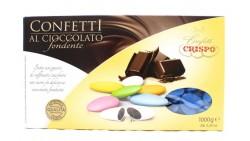 Confetti BLU al cioccolato fondente - confetti BLU CRISPO confezione 1kg