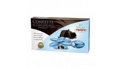 Confetti CELESTE al cioccolato fondente - confetti AZZURRO CRISPO confezione 1kg