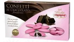Confetti ROSA al cioccolato fondente - confetti ROSA CRISPO confezione 1kg