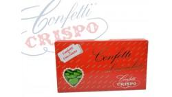 Confetti VERDE al cioccolato fondente - confetti VERDI CRISPO confezione 1kg