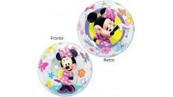 BUBBLES Minnie Mouse - palloncino 22/56cm trasparente