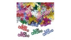 Confetti Buon Compleanno - Multicolor - Coriandoli in plastica da tavola - 15gr