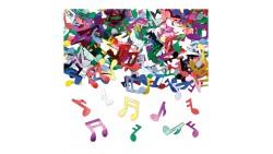 Confetti NOTE MUSICALI - Multicolor - Coriandoli in plastica da tavola - 15gr