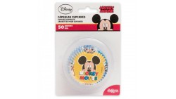 50 pirottini TOPOLINO in carta forno - per Cupcake, muffin, DOLCI - MICKEY MOUSE