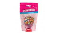 Cuoricini multicolor in ZUCCHERO 100g - Cuori colorati decorazioni torte e dolci