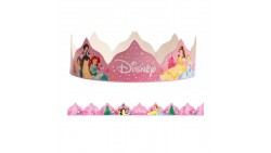 10 CORONA coroncine PRINCIPESSE Disney - in cartoncino - fasce festa bambini