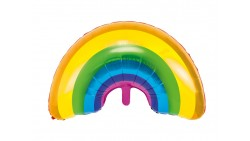 PALLONCINO Arcobaleno Rainbow Festa Tema Unicorno - per aria o elio 73x45cm