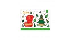 Set 2 TAGLIAPASTA NATALE natalizi - Albero e Stivale per creare fantastici biscotti