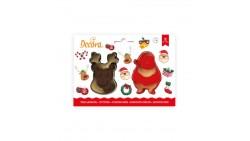 Set 2 TAGLIAPASTA NATALE natalizi - Babbo e Renna per creare fantastici biscotti