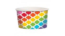 12 Coppe gelato COLORATE - Ciotole tonde Contenitore in Carta per alimenti