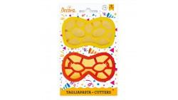 2 Tagliapasta MASCHERA Arlecchino mascherina CARNEVALE  biscotti, Dolci, Torte