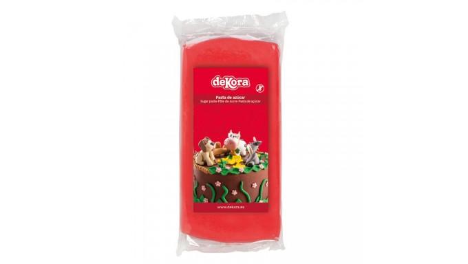 Pasta di zucchero ROSSO 250g - glassa Fondente - per copertura torte e dolci