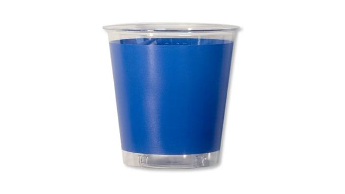 10 Bicchieri BLU COBALTO in plastica Kristal - addobbo decoro tavola