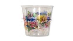 10 Bicchieri COROLLA in plastica Kristal - addobbo decoro tavola