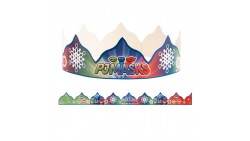 10 CORONA coroncine PJ MASKS - cappellino Re - in cartoncino - fasce festa bambini