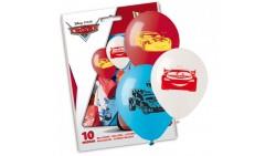 10 PALLONCINI in LATTICE Cars - pallone per feste, party, COMPLEANNO