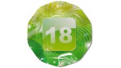 10 Piatti Ø21cm APP 18 in carta -  addobbo decoro tavola per festa di 18 anni