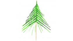 12 STUZZICADENTI Albero di Natale - ideali per decorazioni aperitivi dolci e salati