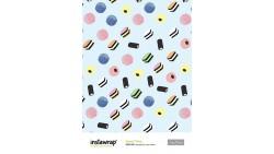 2 Fogli Carta da REGALO confezionamento - Instawrap Sweet Thing - 50x70cm