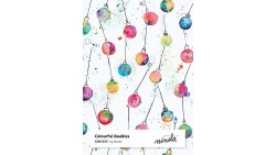 2 Fogli Carta da REGALO NATALIZZIA Instawrap Colorful Baubles - 50x70cm