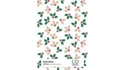 2 Fogli Carta da REGALO NATALIZZIA Instawrap Holly Glitter - 50x70cm