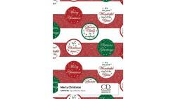 2 Fogli Carta da REGALO NATALIZZIA Instawrap Merry Christmas - 50x70cm