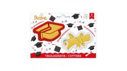 2 Tagliapasta LAUREA con TOCCO e PERGAMENAl - taglia biscotti per Dolci, Torte