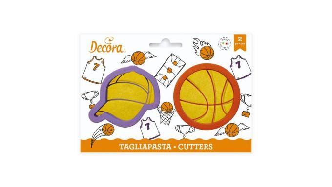 2 Tagliapasta Pallone e Berretto Basketball - taglia biscotti per Dolci, Torte