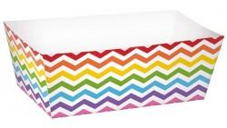 24 Ciotole Rettangolare Colorate - Contenitore MINI PLUMCAKE in Carta per alimenti
