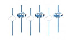 6 Cannucce Nuvole e Aeroplani DECORAZIONE