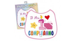 BAVAGLINO bebe' - Il mio 1° Compleanno Rosa