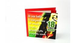 Biglietto d'auguri per 18 ANNI SONORO - biglietto Musicale con BOB Marley