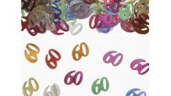 Confetti - Coriandoli da tavola sagomati 60 Anni Multicolor