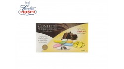 Confetti GIALLO al cioccolato fondente - confetti GIALLI CRISPO confezione 1kg
