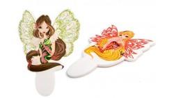 Decorazione in zucchero pick WINX club 2D - per torte, dolci - Stella e Flora