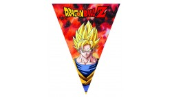 FESTONE bandierine DRAGON BALL Z con Goku, Vegeta - in plastica