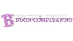 FESTONE BUON COMPL. POIS LILLA 285X23CM