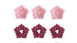 Fiore phlox in ZUCCHERO - decorazione torte e dolci - 1 Pezzo Casuale