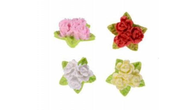 Fiore tris garofani in ZUCCHERO - decorazione torte e dolci - 1 Pezzo Casuale