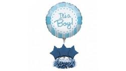 Kit CENTROTAVOLA Palloncini NASCITA Azzurro - Fai da Te It's a Boy  Bambino bimbo