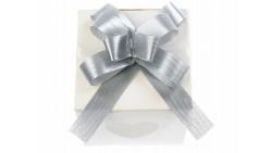 Mini COCCARDA nastrino ARGENTO per confezionamento pacco regalo - Bottiglia