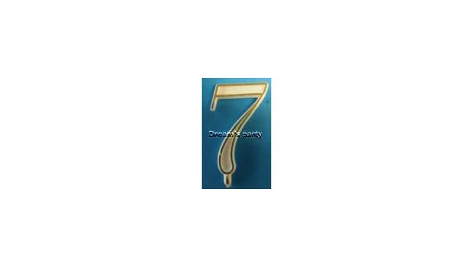 NUMERIN0 7 PLASTICA FILO ORO H. 4,5 CM