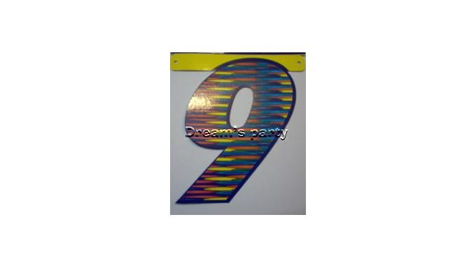 NUMERO FANTASIA 9 CM 20
