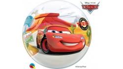 Palloncino BUBBLES macchina CARS - Pallone tondo Trasparente 56cm