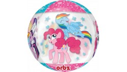 Palloncino BUBBLES My Little Pony Rainbow - Pallone ORBZ tondo Trasparente 40cm