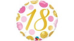 Palloncino foil mylar 18 Anni pois oro rosa 46 cm